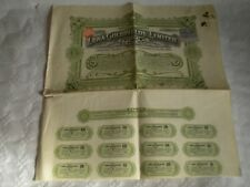 Vintage share certificate Stock Bonds The Lena Goldfields limited october 1909