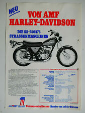 Prospekt Harley-Davidson Straßenmaschinen SS-125 / SS-250/175, 1975, 2 Seiten