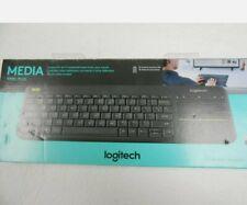 Logitech Media K400 Plus Wireless Touch Keyboard Built In Touchpad - New Sealed