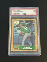 1987 Topps Mark McGwire #366 Oakland Athletics PSA 9 MINT Oakland Athletics