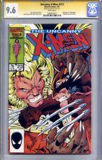 UNCANNY X-MEN #213 CGC 9.6 SS ALAN DAVIS (Sabretooth appearance) classic cover