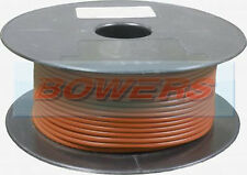 50M METRE ROLL/REEL BROWN SINGLE CORE CABLE/WIRE 8.75AMP 14 STRAND 1mm 1.00mm²