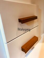 34 cm MAHOGANY WOOD  pull handles for cabinets drawers closets EASY FITTING