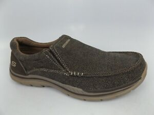 Skechers Men's Expected Avillo Dark Brown Canvas Comfort Shoes SZ 10.0 M,  15811