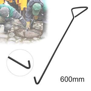 60cm Kanalhaken Schachthaken Kanaldeckelheber Für Kanaldeckel Haken Gullideckel