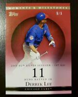 DERREK LEE 2007 Topps Moments & Milestones RED SP #1/1 of 1 Chicago Cubs RBI #11