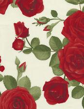 Rosen Bukett Weiß Patchworkstoffe Stoffe Blumen Patchwork Baumwolle Rosenstoffe