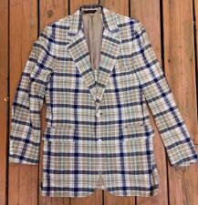 Men's VTG Madras Plaid SPORT COATS 2 Button 40L CHAPEL OAKS Howard's Peer Gordon