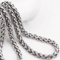50 cm 2019 Klassisch Edelstahl Kette Halskette für Männer lang  s/#