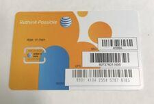AT&T 4098A Nano SIM Card (IL/PL1-2559-4098A-NIB)