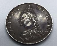 Uk 1887 Queen Victoria Jubilee Head Silver Florin Coin