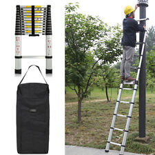 3.8m Portable Anti-pincement Multi-usages aluminium Télescopique Ladder échelle