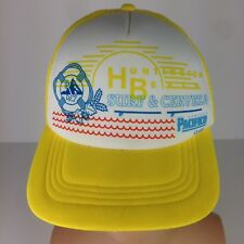 Huntington Beach Surf & Cerveza Pacifico Trucker Hat Snapback Nautical Waves Cap