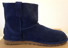 UGG Women's Unlined Classic Mini Perf Navy Blue Suede Boots Size 9 USA