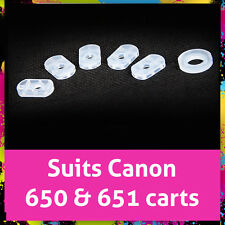 6 rihac Patented silicone Seals for Canon 650 & 651 carts - Best Seals Available