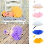 Sweet Baby Girl Newborn Tutu Skirt & Flower Headband Photo Prop Costume Outfit