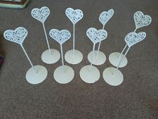 Set Of 8 Table Place Holders (ideal for weddings)