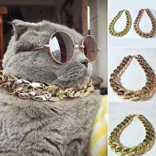 BL_ FA- KQ_ Adjustable Pet Puppy Dog Chain Collar Punk Rock Cat Safety Collar 36