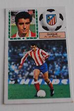 Cromo Liga 83-84. Quique. At. Madrid. Ediciones Este. Despegado