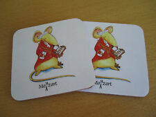 MOUZART MOUSE MUG MATS - pair  Gift for Music Teacher, Student, Animal Lover