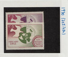 CHILE 1970 STAMP # 785/6 MNH UNITED NATIONS
