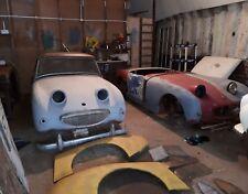 Austin Healey frogeye sprites x2 1959 rhd cars. one logbook with original reg.