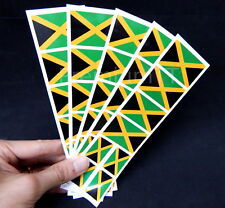 40 Removable Stickers: Jamaica Flag, Jamaican Party Favors, Decals