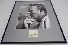 Arnold Palmer Signed Framed 16x20 Smoking Photo Display