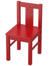 SEGGIOLINA  PER BAMBINI LEGNO ROSSO . IKEA KRITTER