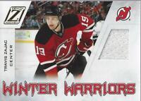 2010-11 Zenith Winter Warriors Materials #TZ Travis Zajac Jersey - NM-MT