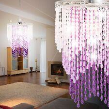 Kristall Beleuchtung Lüster Hänge Leuchte Saal Decken Lampe Kinderzimmer rosa