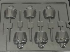 Chocolate Cupcake Mould Lollipop Lolly 1 Design 6 Shapes on 1 Mould
