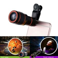 12X Zoom Lens Optical Clip Telephoto Telescope Cell Phone Camera Lens Universal