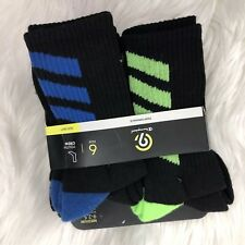 Boys Socks Champion C9 Shoe Size 9-2.5 Black 6 Pair Performance Stretch