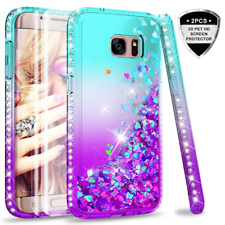 Galaxy S7 Edge Glitter Case with 3D Pet Screen Protector [2 Pack] for Girls Wome
