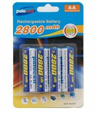 4 x Pack AA Palo Palocell Rechargeable Rechargable Batteries NIMH 2800mAh