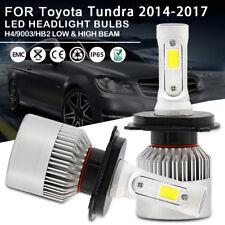 Car LED Headlight Bulbs H4 9003 HB2 High Low Beam For Toyota Tundra 2014-2017