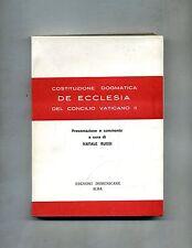 COSTITUZIONE DOGMATICA DE ECCLESIA DEL CONCILIO VATICANO II #Ed. Domenicane 1965