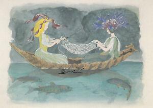 Kunstkarte / Postcard Art -  Ernst Kreidolf - Cipripedium und Centaures / 1918