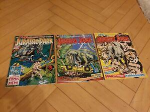 Jurassic Park Comics zum Film 1993 3 Hefte Vintage Kult