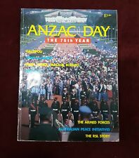ANZAC DAY 75th YEAR BOOK MAGAZINE 1990