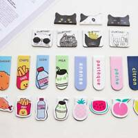 2x 2 pieces / set of cartoon magnetic bookmark books school office stationery