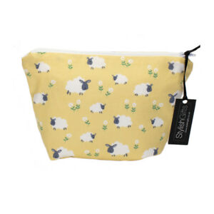 Unique Handmade Sheep Design Cotton Cosmetic Bag-Yellow Limited Edition-UCB50
