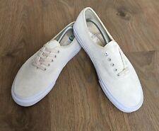 Nuevo Auténtico Para Hombre de Cuero de gamuza VANS Low Top Beige Crema  Zapatillas Zapatos UK 3.5 d0763e83994