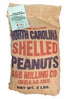 Aunt Ruby's Large Shelled Raw Peanuts 3 Lb Burlap Bag