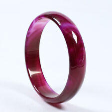 Red Jade Bracelet Bangle a2148 67mm Certified Natural Agate Chalcedony Purple