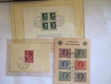 TIMBRES 3 REICH, Trois blocs  années 1937 et 1942 .