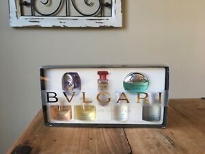 BVLGARI The Miniature Collection 6 Piece Gift Set Travel Men and Women !