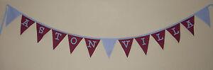 Football Fabric Bunting Banner Bedroom Decoration ASTON VILLA CHRISTMAS Gift