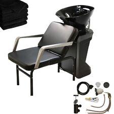 Abs Backwash Sink Shampoo Bowl Chair Unit Station Beauty Spa Salon Equipment
